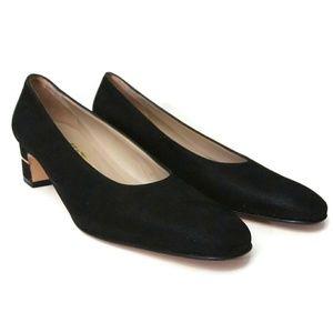 SALVATORE FERRAGAMO Black Heel Pump Shoes 8.5 2A